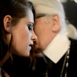 Intimate moment: #KristenStewart and #KarlLagerfeld More pics from #chaneldallas: http://t.co/ZHlIbyaW2x http://t.co/nfxSbG5wBL