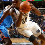 Zach Randolph is fouled by Kendrick Perkins http://t.co/hzeASvBRHO