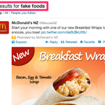 RT @garethmorgannz: In search of fake food and get this perfectly targeted result by @MaccasNZ http://t.co/utMCyh8RtK