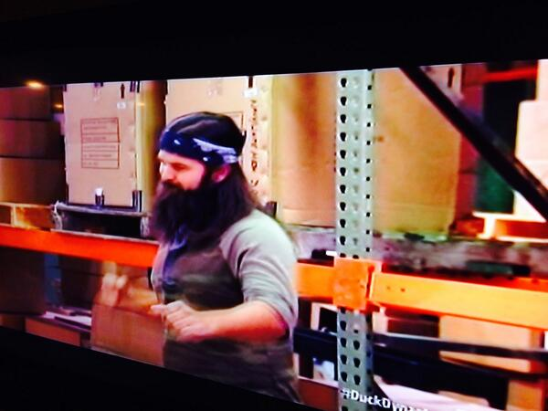 Nice to see the warehouse on @DuckDynastyAE has some teardrop Pallet racking to store their products http://t.co/Q0j7nPzdpv