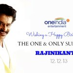 Happy Birthday to the ONE & ONLY SUPER STAR #RAJINIKANTH    Click the link to wish him http://t.co/qVnmFfBHwp