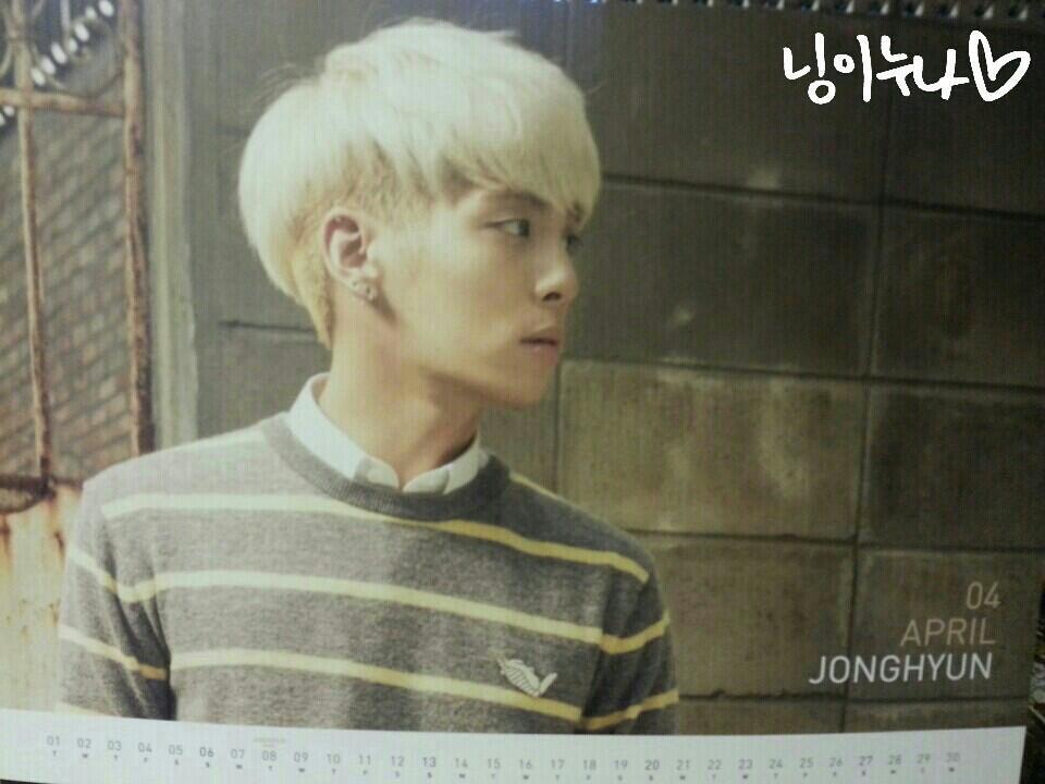 Shinee Jonghyun 2014 2014 Calendar Jonghyun