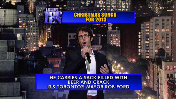 ♜Sandy Berk (@TOSandyB): Tonight on Letterman's Top 10 list! Love it @joshgroban http://t.co/WMX1rE8bmq
