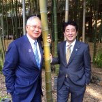 RT @NajibRazak: PM Abe of Japan and I sharing a light moment in his garden just moments ago http://t.co/2UylkV5EbK