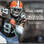 RT @Browns: Congratulations to @jabaalsheard being named Cleveland Browns 2013 Walter Payton Man of the Year! http://t.co/TihzVMJmti