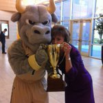No one loves @USFRockytheBull more than President Genshaft. #CapitalOneBull Vote Rocky! http://t.co/rNsoGj5t5W