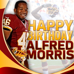 "Fellow centaur Sag: explains a lot! ""@Redskins RB @Trey_Deuces is 25 today! Mr. Alfred Morris, Happy Birthday! #HTTR http://t.co/WCKDUDiZO1"""