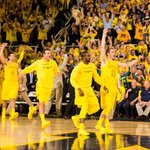 #TBT: Crisler was hype for last seasons victory over Ohio State. We want to hear you again on Saturday. #BeatZona http://t.co/Lg8m0mhWhL
