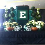 RT @CollinTaylor36: T-minus 30 min till @Coach_Creighton is introduced to @emuathletics and @EMUFB http://t.co/5PcgsuuKDq