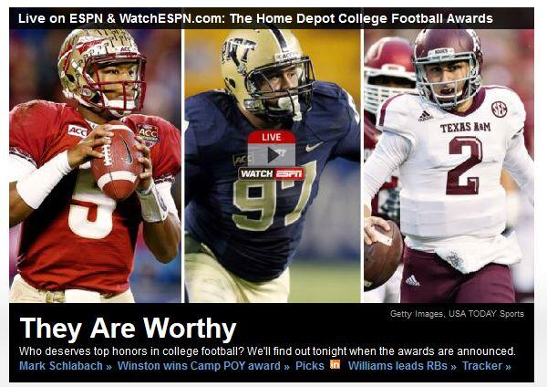 RT @RJSepich_H2P: Aaron Donald on ESPN home page right now, right between Jameis Winston and Johnny Manziel. Pretty cool. #Pitt #H2P http:/…