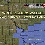 RT @mikebracciano: Winter Storm Watch for some of the viewing area. #KQ2 #Weather http://t.co/pAgMXVIo3B