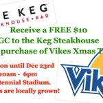 Great service, local trees, amazing cause!! Get your Xmas tree & free #keg GC today! 10-6pm at centennial stadium http://t.co/uwEKZyI8V6
