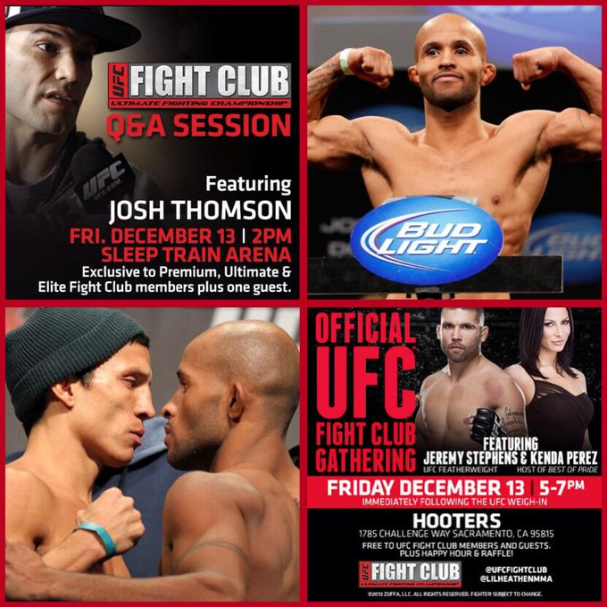 Here's a snapshot of the Fight Club schedule tomorrow! Hope to see you there! #SacTownFC #ufconfox http://t.co/ghZO9aYUPZ