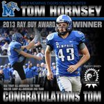 RT @TigersMedia: Congratulations to Tom Hornsey for winning the 2013 @rayguyaward #gotigersgo #CFBAwards http://t.co/YwRtM6M2ZX
