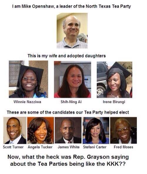 Pretty much blows up the #Teaparty is racist meme , huh #stoprush.