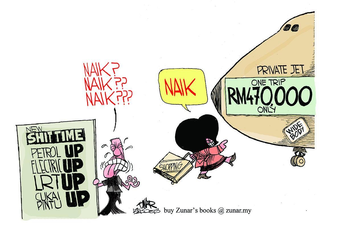 Zunar's cartoon: UP! UP! UP! http://t.co/ArxHqGtHF5