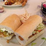 Life in New Orleans: the Felix Special po boy: half oysters, half shrimp and all awesome ! @felixsoysterbar http://t.co/2tSLpcdYR0