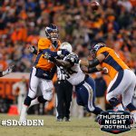 RT @nfl: Big-time INT by the @chargers. #SDvsDEN #TNF http://t.co/NAF3SwMM5L
