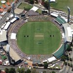 From one of our sharp eyed cameraman - @Westo_9 Above the #WACA in the @9NewsPerth  chopper. #Ashes http://t.co/qB30PmdRGK