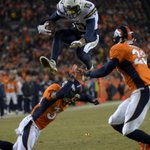 FINAL - Chargers upset the Broncos 27-20 at Mile High. Keenan Allen: 2 catches, 2 touchdowns, 1 impressive hurdle. http://t.co/LOf2PzzKcD