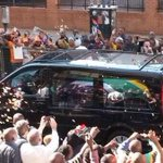 #OnMyBlackboard >>> RT @BBCWorld Rose petals shower #Mandela funeral cortege ---makes last journey to Union Building. http://t.co/a5bc5BfCFg