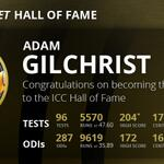 Adam Gilchrist has been inducted into the ICC Cricket Hall of Fame #ICCHoF http://t.co/lD7wy4vF9q