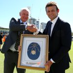 Adam Gilchrist was officially inducted into the #ICCHoF by @CricketAus chairman Wally Edwards today in Perth http://t.co/u2nqyJz69K