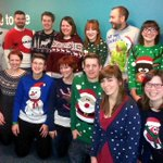 Happy #xmasjumperday from the Marketing, Comms and Recruitment team! #Christmas http://t.co/B7BXuDkzcd