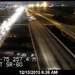 I-75 TAMPA UPDATE: NB traffic jammed from Selmon Exwy to past SR-60/Exit 257 due to rollover crash. Right gets by. http://t.co/MRiRe083YI