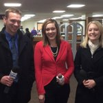 NDSU grads @ABoernerFOX @NicoleVNL & @Becky_WDAY were on campus Thursday for three different Fargo TV stations. http://t.co/IIVvndcvfy