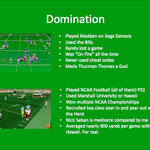 A gamer applied for the North Dakota football head coaching job.  Here is a slide from his powerpoint presentation. http://t.co/d2Knr7Fwxr