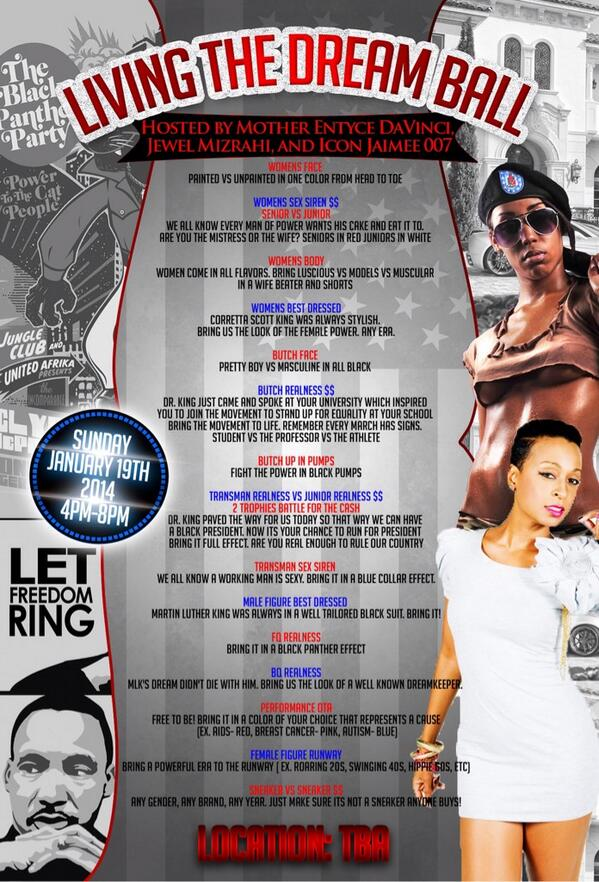 Keeping our dream alive at Living The Dream Ball hosted by @JewelVixen @MsEntyce & myself !!! Jan 19 http://t.co/nl8tHwOWri