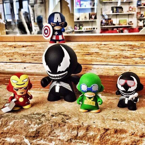 Today begins @Kidrobot 12 days of gifting!  TODAY ONLY 25% off Marvel Munny products! At KR retail stores only! http://t.co/LfY9z1OVHd