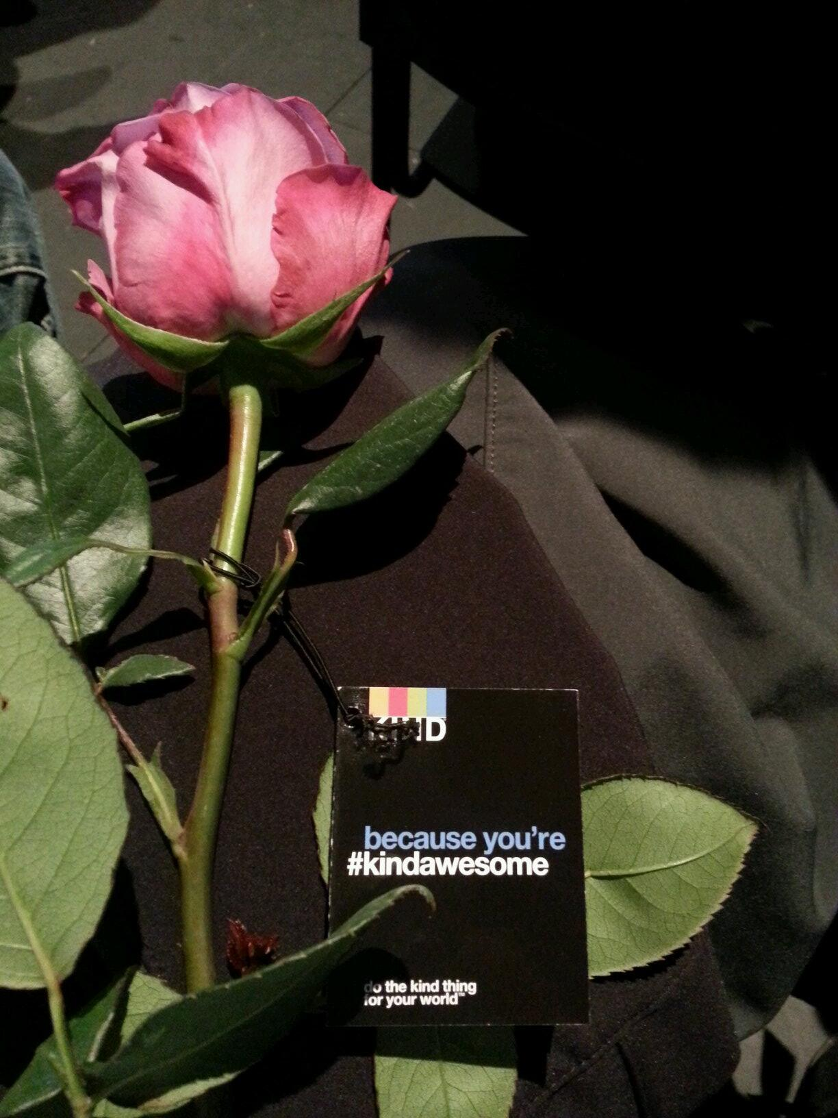 "Beautiful roses given at #tedxsd as gifts from @KINDSnacks ""because you're #kindawesome "" #WGBD http://t.co/pDlwewx4EA"