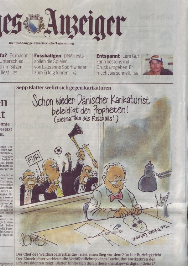 BbexnSiCIAAmwJo Blatter wins a Swiss injunction against a Danish cartoonist that would have damaged his reputation