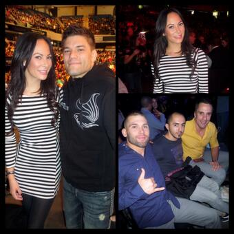 Yesterday's Fight Club guests @kendaperez @THEREALPUNK  @LiLHeathenMMA & @JoshSamman in the house! #UFCFightNight http://t.co/VBJBBEbRrX
