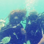 Mr and Mrs scuba diving in Bali, Indonesia. 11 years of togetherness on land n now under the ocean as well.. ;) http://t.co/4rjUWdXL0S