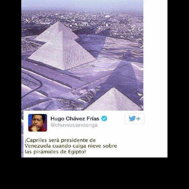 1era Nevada en Egipto? Sera que el fin esta cerca entonces? Bueno Chavez lo dijo... sera Cierto @alexagomez2000 ? http://t.co/3v0YA5CTpz