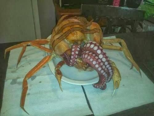 Eat the overlords! MT @aquaken: Chthulken: this is just WRONG! http://t.co/ROOttfG3iF http://t.co/8CBjU7wrYl @damana via @latimesfood