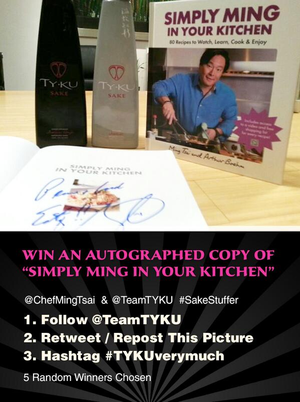 We still have 2 left, so don't forget to give a #TYKUverymuch to @chefmingtsai http://t.co/0cwg1ubK9i