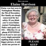 RT @lardlikesdogs: @serafinowicz Pls RT Missing person Nottingham #FindElaine @AndyHarrison80  http://t.co/DakBoOqcVE