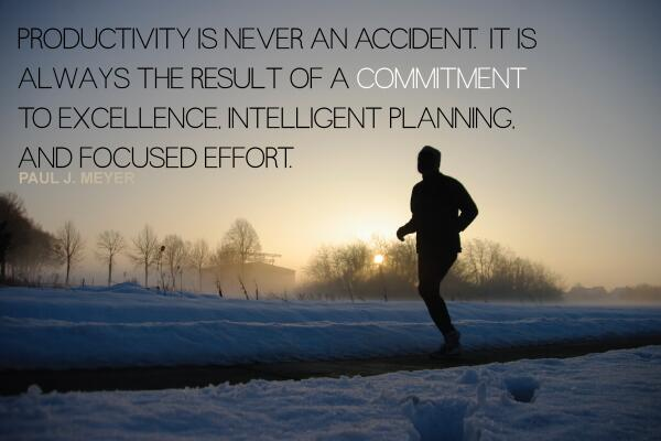 """Productivity is never an accident. It is always the result of a commitment to excellence..."" -Paul J. Meyer http://t.co/lbtXLE1i2z"