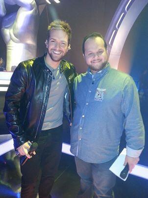 @pabloalboran y David Barrull - La Voz en los ensayos de la gala final de mañana de 'La Voz' @lavoztelecinco http://t.co/blvq9jxay7