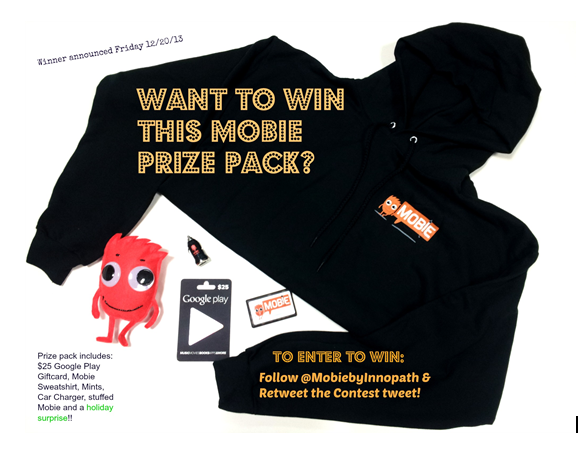 Mobie Holiday Contest! Just follow @mobiebyinnopath & RT this for a chance to win the Prize Pack shown!  *ad http://t.co/BxSFzOtinK