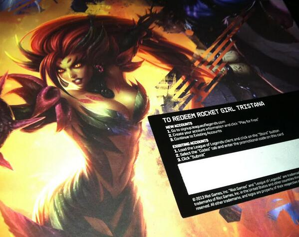 Retweet this and follow for a chance to win a Rocket Girl Tristana skin code! I will pick a winner at noon tomorrow. http://t.co/WtTvbgZRFS