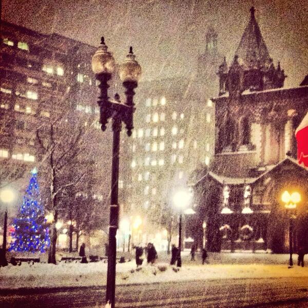 Let it snow, let it snow, let it snow! #boston #BOSnow #copleysquare http://t.co/fGHrts3MeR
