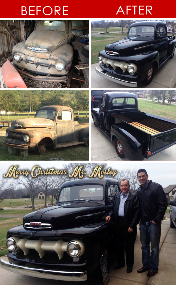 WOW! One of our staff members surprised his 82 year old neighbor with a full restoration of his daddy's 1951 @Ford: http://t.co/2qm1vgZhiM