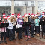 RT @cityburlington: St. Elizabeth Seton school singers at #BurlON #CityHall today at lunch. http://t.co/Aen3gl7ZxZ
