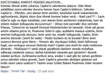 İstanbul Emniyet Müdürünün görevden alınışı. Dehşet! Nette dönen bu iddialarla ilgili çapkının açıklama yapması lazım http://t.co/zC9ViZ07XD