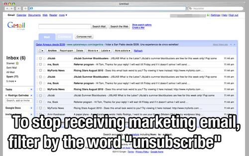 OMG! This is by far the best anti-marketing-SPAM tip ever! How could I have missed this http://t.co/9CXTqfnr2N